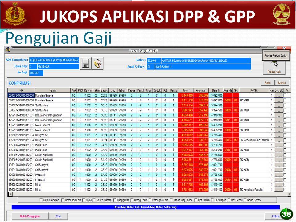 Pengujian Gaji JUKOPS APLIKASI DPP & GPP 38
