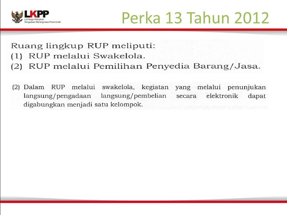 Perka 13 Tahun 2012