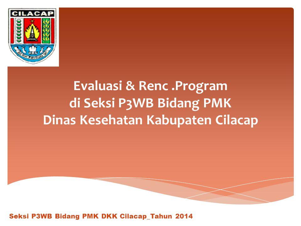 Evaluasi & Renc.Program di Seksi P3WB Bidang PMK Dinas Kesehatan Kabupaten Cilacap Seksi P3WB Bidang PMK DKK Cilacap_Tahun 2014