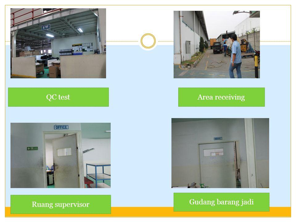 QC testArea receiving Ruang supervisor Gudang barang jadi