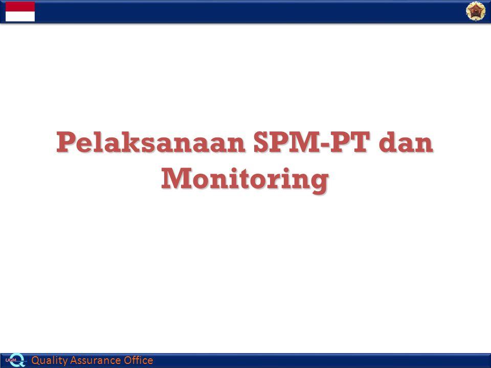Quality Assurance Office Pelaksanaan SPM-PT dan Monitoring Pelaksanaan SPM-PT dan Monitoring