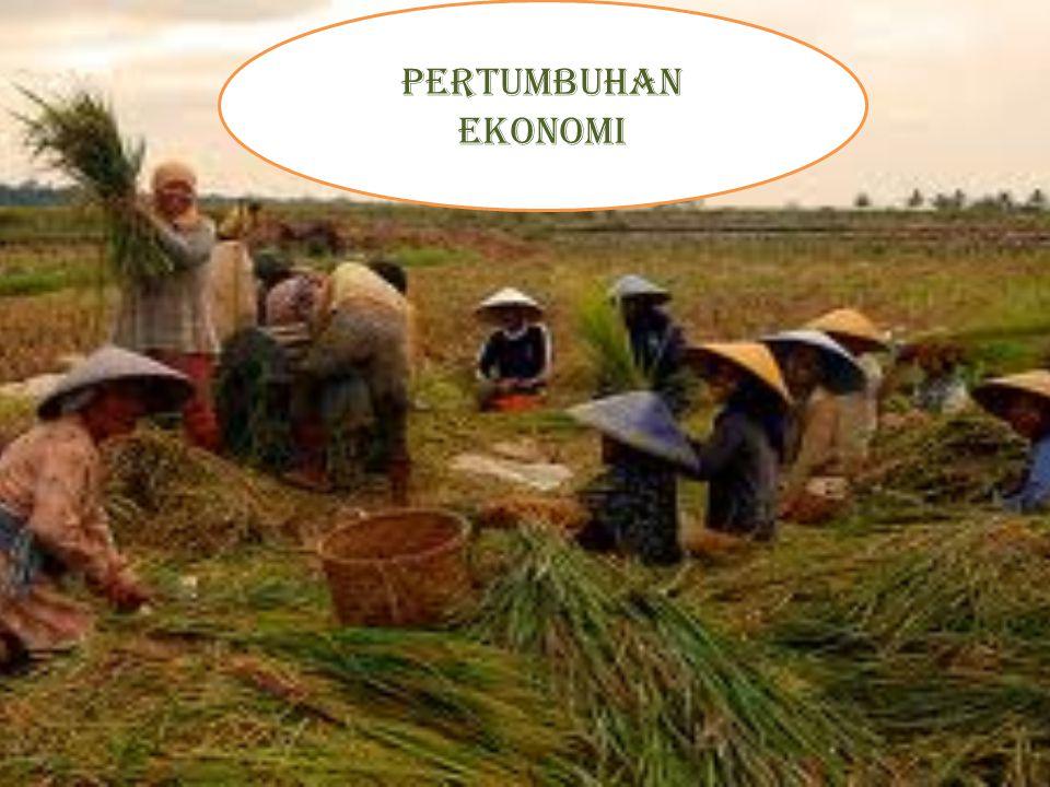 Pertumbuhan ekonomi suatu keadaan perekonomian yang menunjukkan adanya kenaikan PDB (Produk Domestik Bruto) tanpa memandang apakah persentase kenaikan PDB tersebut lebih besar atau lebih kecil dibanding persentase kenaikan jumlah penduduk.