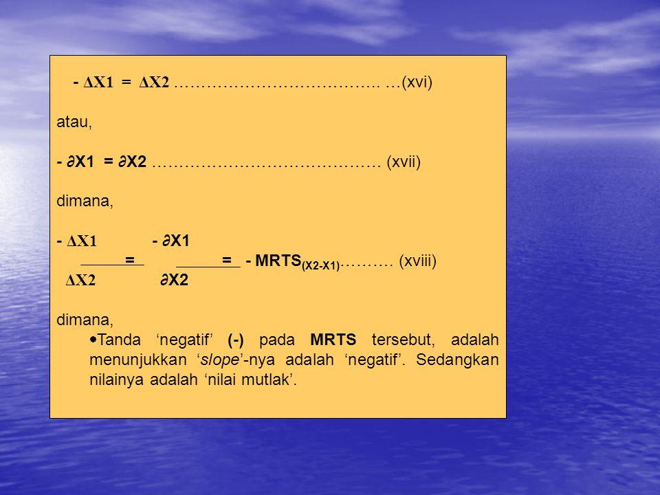 - ΔX1 = ΔX2 ………………………………..