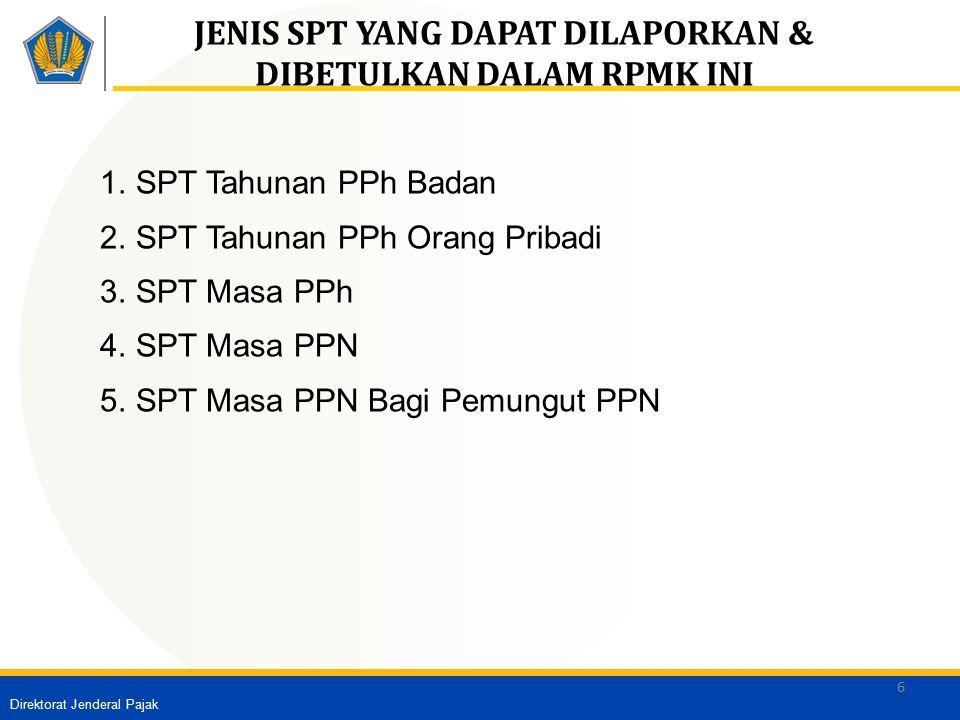 Direktorat Jenderal Pajak 7 PROSEDUR PENGHAPUSAN SANKSI ADMINISTRASI Permohonan WP + Lampiran Penelitian atas ruang lingkup, persyaratan & ketentuan WAJIB PAJAK WAJIB PAJAK SK Penghapusan Saksi Administrasi SK Pengurangan Saksi Administrasi Persyaratan: 1.Satu permohonan untuk satu STP 2.Diajukan secara tertulis dalam bahasa Indonesia; 3.Ditandatangani oleh Wajib Pajak untuk OP /wakil untuk badan 4.Disampaikan ke KPP tempat Wajib Pajak terdaftar/dikukuhkan Ketentuan: Sanksi Administrasi dalam STP belum dibayar seluruhnya.