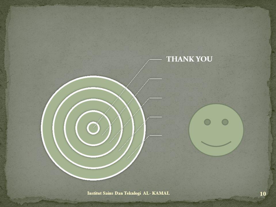 THANK YOU Institut Sains Dan Teknlogi AL- KAMAL 10