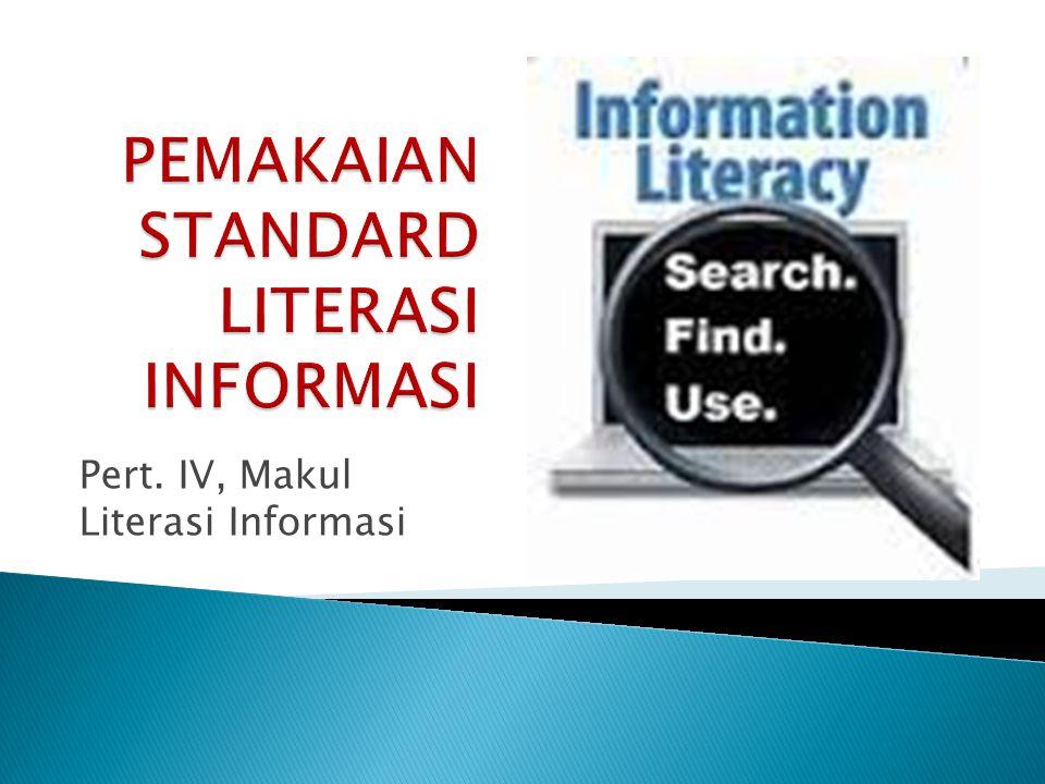 Pert. IV, Makul Literasi Informasi