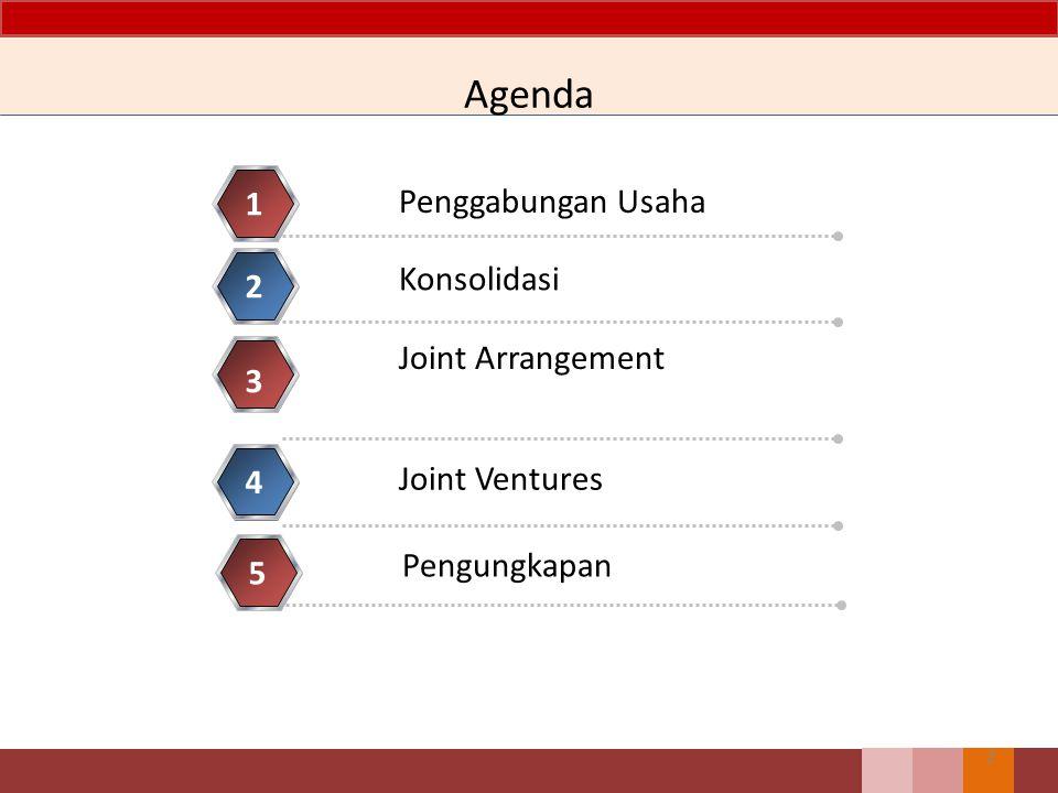 Agenda Penggabungan Usaha 1 Konsolidasi 2 Joint Arrangement 3 Joint Ventures 4 2 Pengungkapan 5