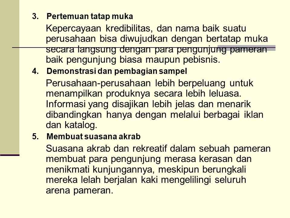 C.PEMANFAATAN PAMERAN 1.Informasi tentang berbagai pameran.