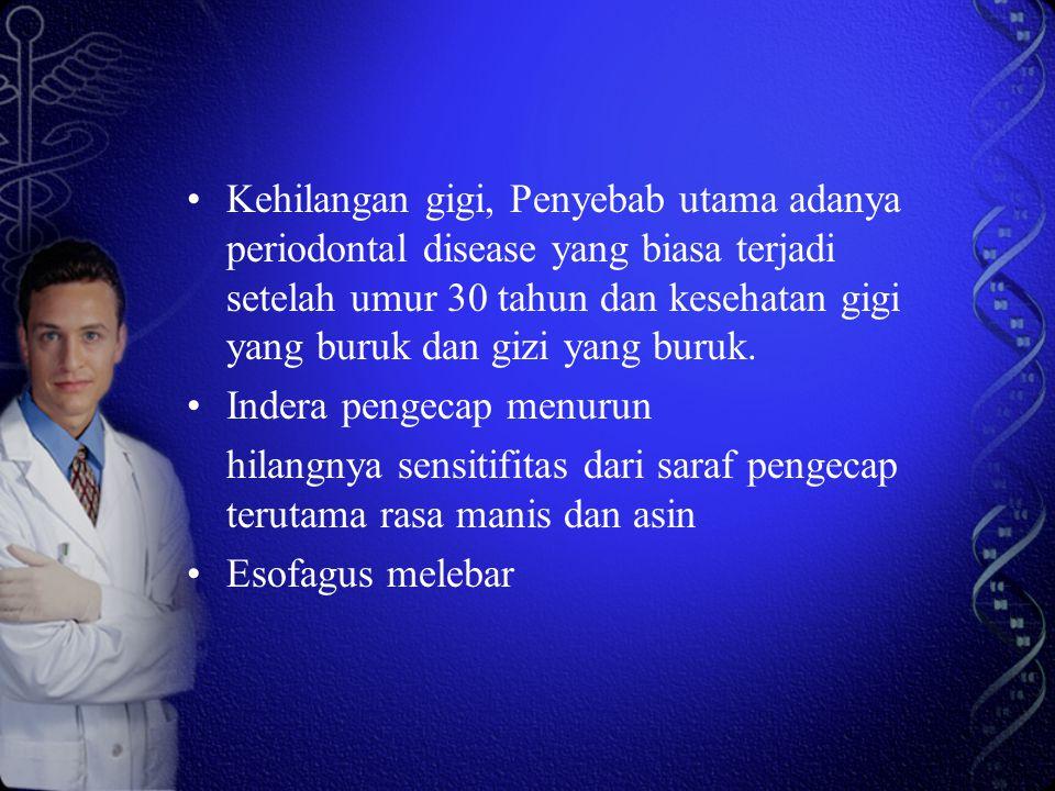 Lambung, rasa lapar menurun (sensitivitas lapar menurun ), asam lambung menurun, waktu mengosongkan menurun.