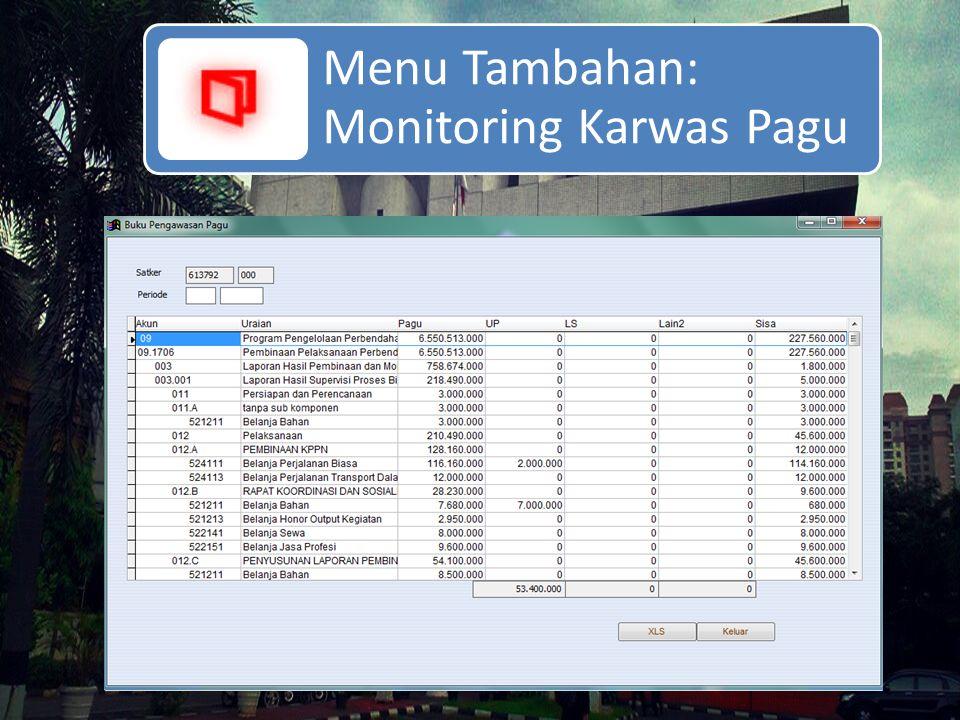 Menu Tambahan: Monitoring Karwas Pagu