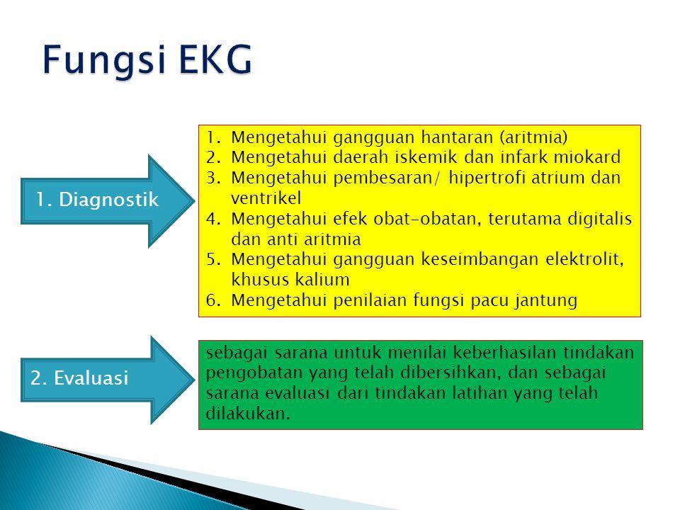 Mesin EKG dibagi menjadi 3 jenis, menurut banyaknya saluran (channel) pencatat yaitu; singgel, trifle, atau multifle chanel.