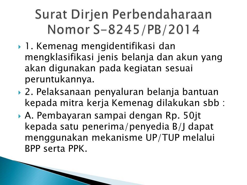  1) KPA Satker menetapkan PPK dan BPP yang khusus menangani penyaluran bantuan.