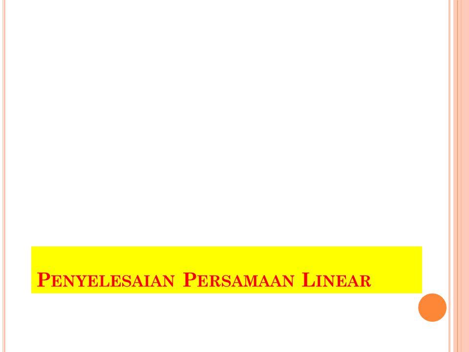 S EBUAH SISTEM DENGAN TIGA PERSAMAAN DENGAN TIGA VARIABEL YANG TIDAK DIKETAHUI Prosedur yang sama dengan dua peubah juga dapat digunakan untuk menyelesaikan sistem tiga persamaan linear 3 peubah, yaitu dengan metode eliminasi,dan substitusi.