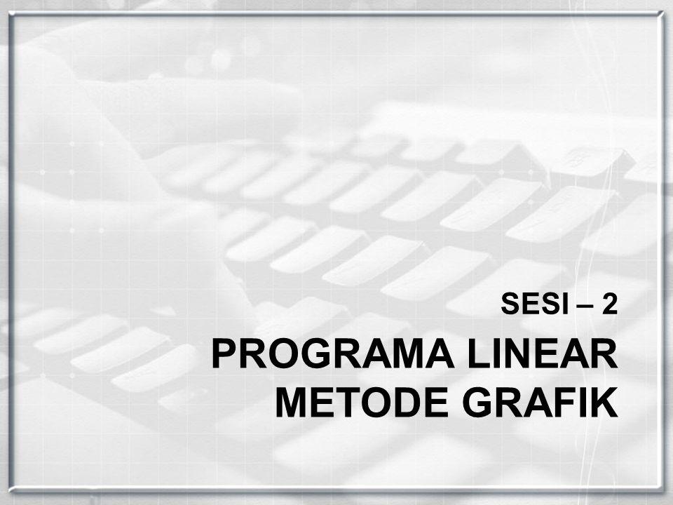 PROGRAMA LINEAR METODE GRAFIK SESI – 2