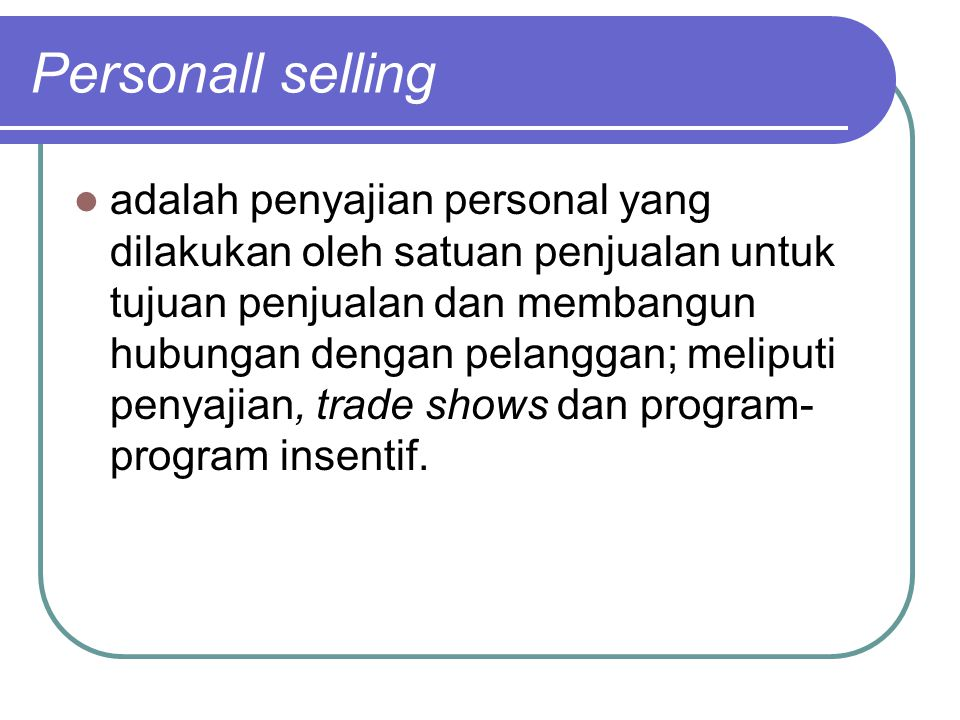 Promosi penjualan adalah insentif jangka pendek yang digunakan untuk terjadinya pembelian atau penjualan satu barang atau jasa tertentu.