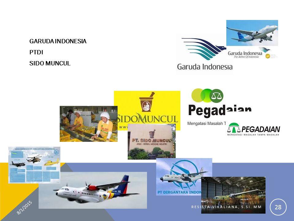 GARUDA INDONESIA PTDI SIDO MUNCUL 8/1/2015 RESISTA VIKALIANA, S.SI. MM 28