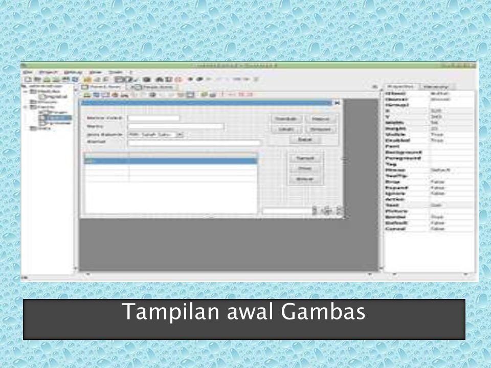  flname = User.home & /datasiswa.html  ME.center  ME.Caption = Data Siswa  tampilkan()  END  PUBLIC SUB Form_Close()  hapus laporan ketika form ditutup  IF Exist(flname) THEN KILL flname  END
