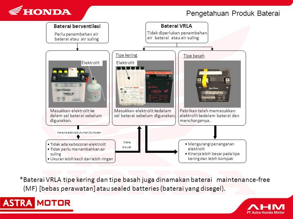 Pengetahuan Produk Baterai a)Selama mesin dalam keadaan mati dan pada waktu penghidupan mesin.