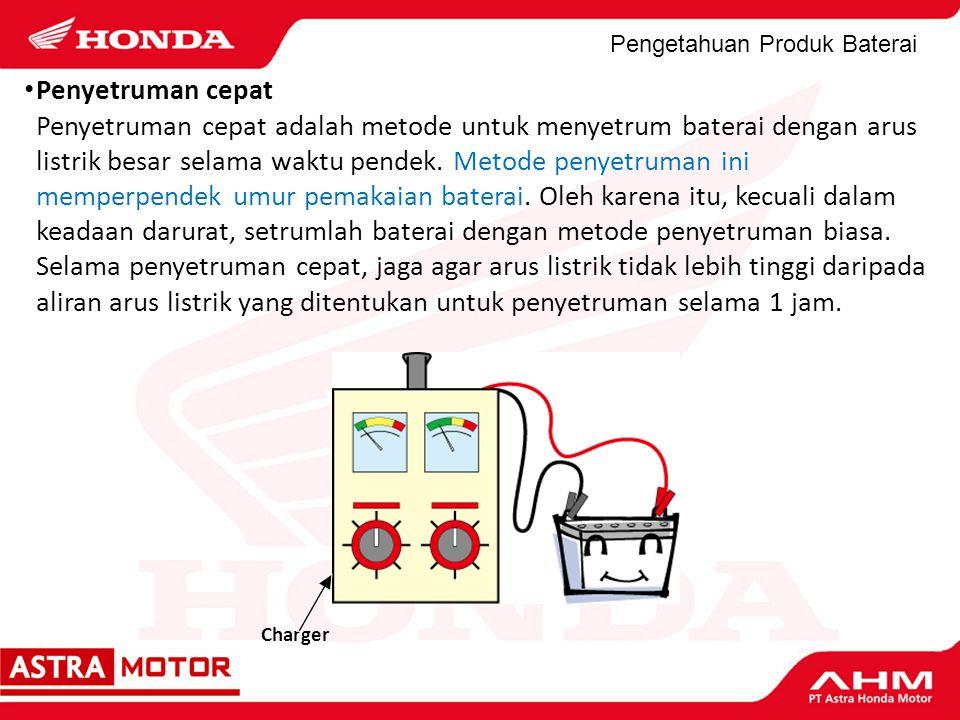 Pengetahuan Produk Baterai Charger Penyetruman cepat Penyetruman cepat adalah metode untuk menyetrum baterai dengan arus listrik besar selama waktu pe