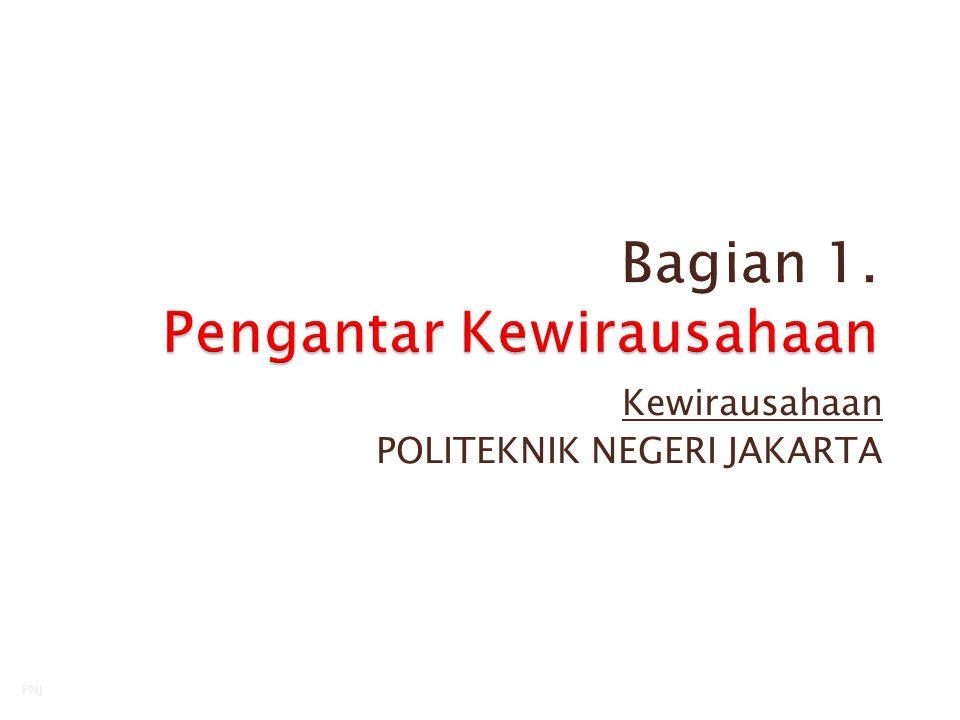 Kewirausahaan POLITEKNIK NEGERI JAKARTA Senin, 08 Juni 20151 PNJ
