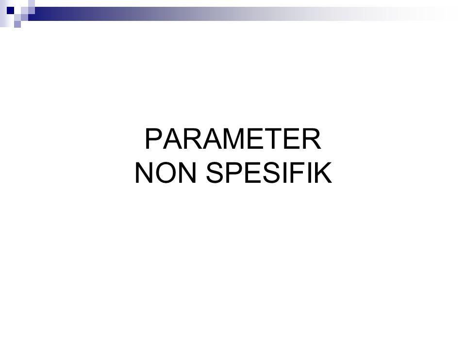 Parameter susut pengeringan PENGERTIAN DAN PRINSIP: Pengukuran sisa zat setelah pengeringan pd temperatur 105  C,30 menit atau sampai berat konstan, yang dinyatakan sebagai nilai prosen.