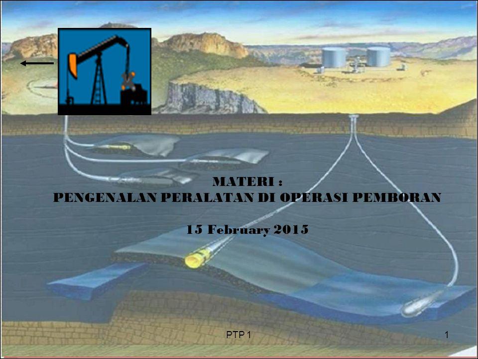 PTP 11 MATERI : PENGENALAN PERALATAN DI OPERASI PEMBORAN 15 February 2015