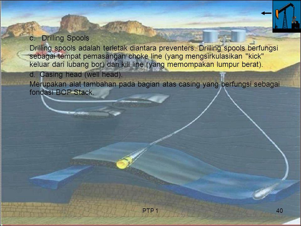 PTP 140 c.Drilling Spools Drilling spools adalah terletak diantara preventers.