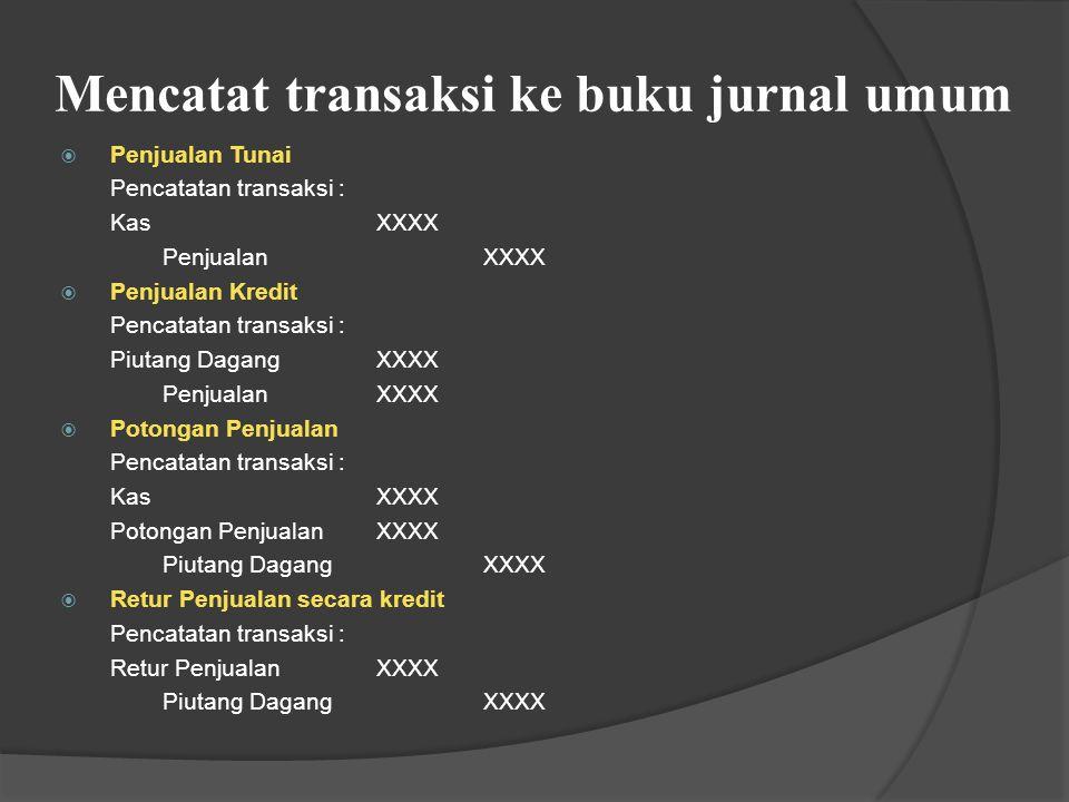 Rekening-rekening dalam Perusahaan Dagang i.