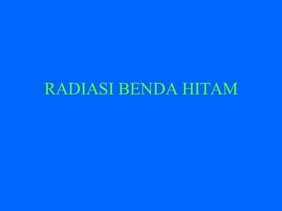 RADIASI BENDA HITAM