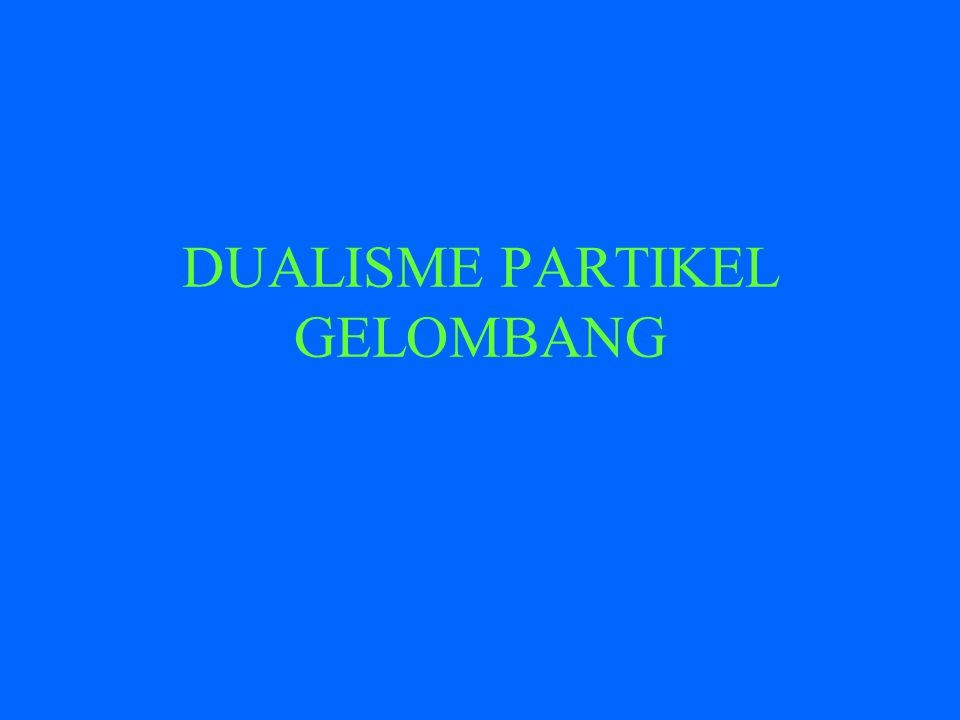 DUALISME PARTIKEL GELOMBANG