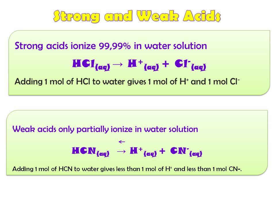 Kekuatan suatu asam-basa ditentukan berdasarkan derajat ionisasinya Jk terionisasi sempurna → asam-basa kuat Jk hanya sebagian → asam-basa lemah Kekua