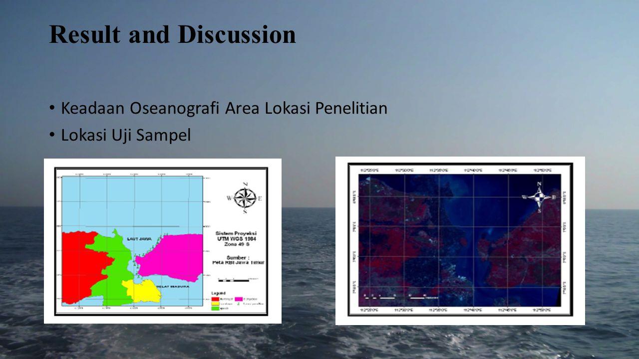 Kondisi Kualitas air Lima parameter air yaitu : suhu permukaan laut, salinitas,pH perairan, kecerahan dan kecepatan arus.