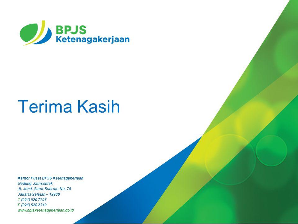 11 Kantor Pusat BPJS Ketenagakerjaan Gedung Jamsostek Jl. Jend. Gatot Subroto No. 79 Jakarta Selatan – 12930 T (021) 520 7797 F (021) 520 2310 www.bpj