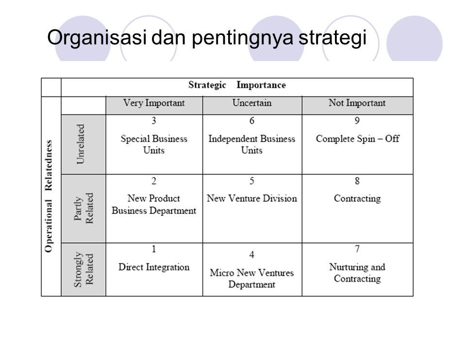 Organisasi dan pentingnya strategi