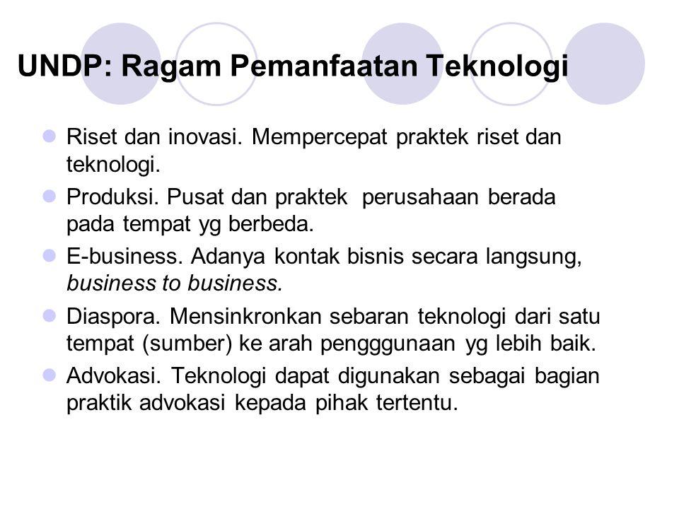 UNDP: Ragam Pemanfaatan Teknologi Riset dan inovasi.