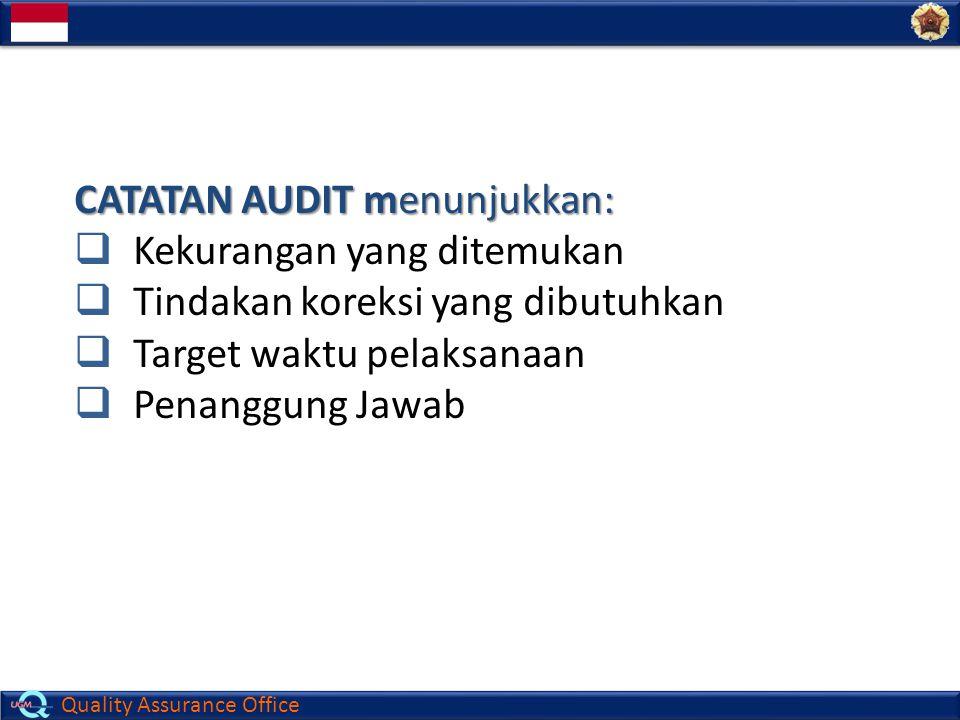 Quality Assurance Office 5E.