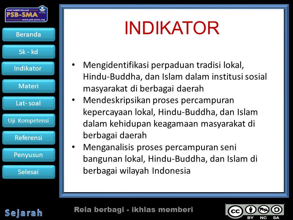 Beranda Sk - kd Indikator Materi Lat- soal Uji Kompetensi Referensi Penyusun Selesai Referensi : I.