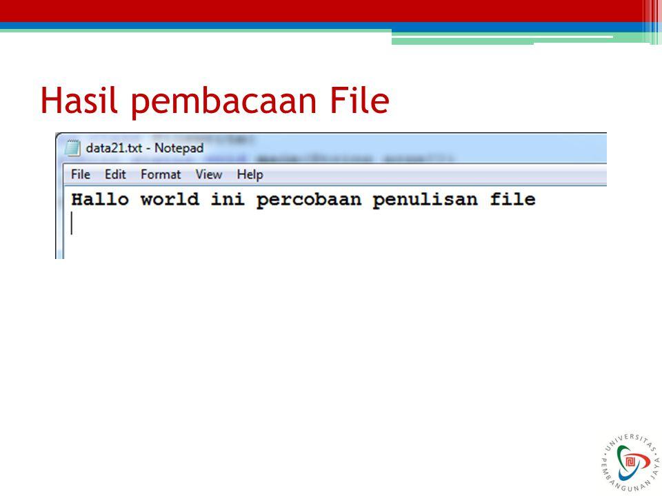 Hasil pembacaan File