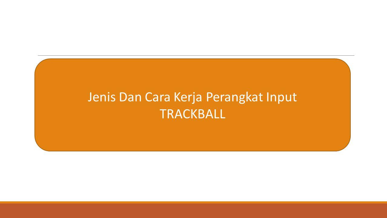 Jenis Dan Cara Kerja Perangkat Input TRACKBALL