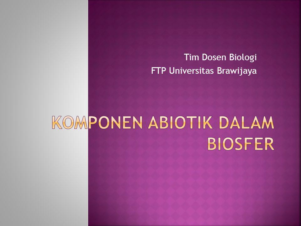 Tim Dosen Biologi FTP Universitas Brawijaya