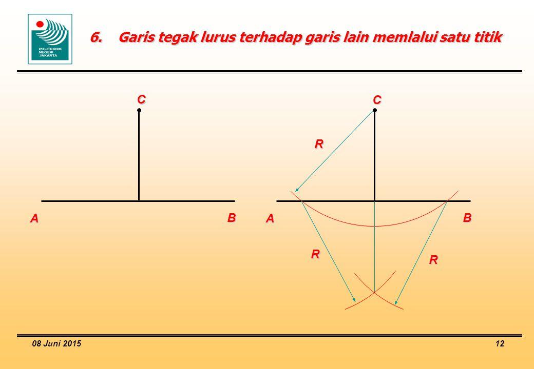 08 Juni 2015 12 6.Garis tegak lurus terhadap garis lain memlalui satu titik A B C A B C R R R