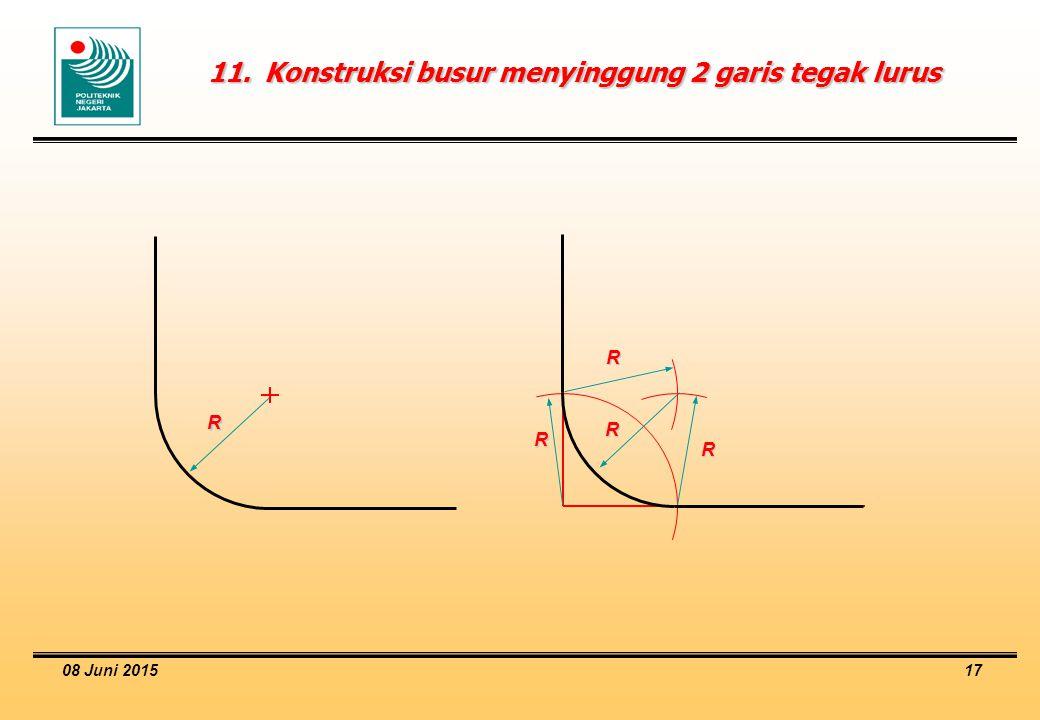 08 Juni 2015 17 11.Konstruksi busur menyinggung 2 garis tegak lurus R R R R R