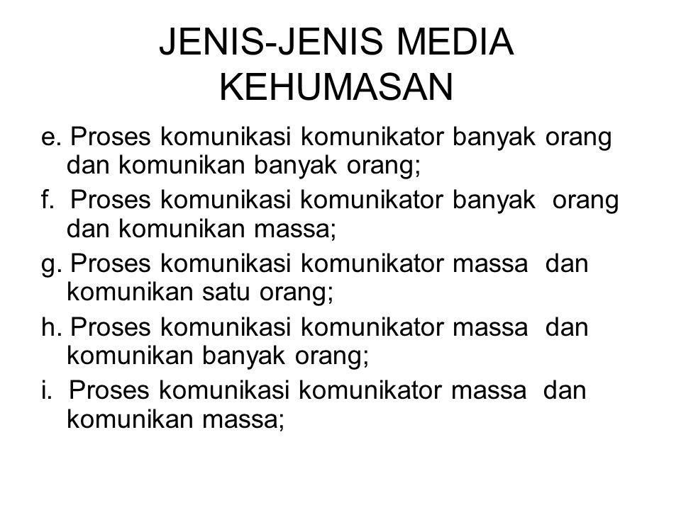 JENIS-JENIS MEDIA KEHUMASAN e.