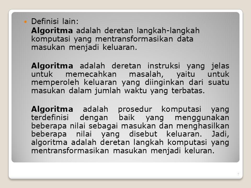 3.Strategi solusi atas-bawah (top-down solution strategies) - Algoritma Divide and Conquer.