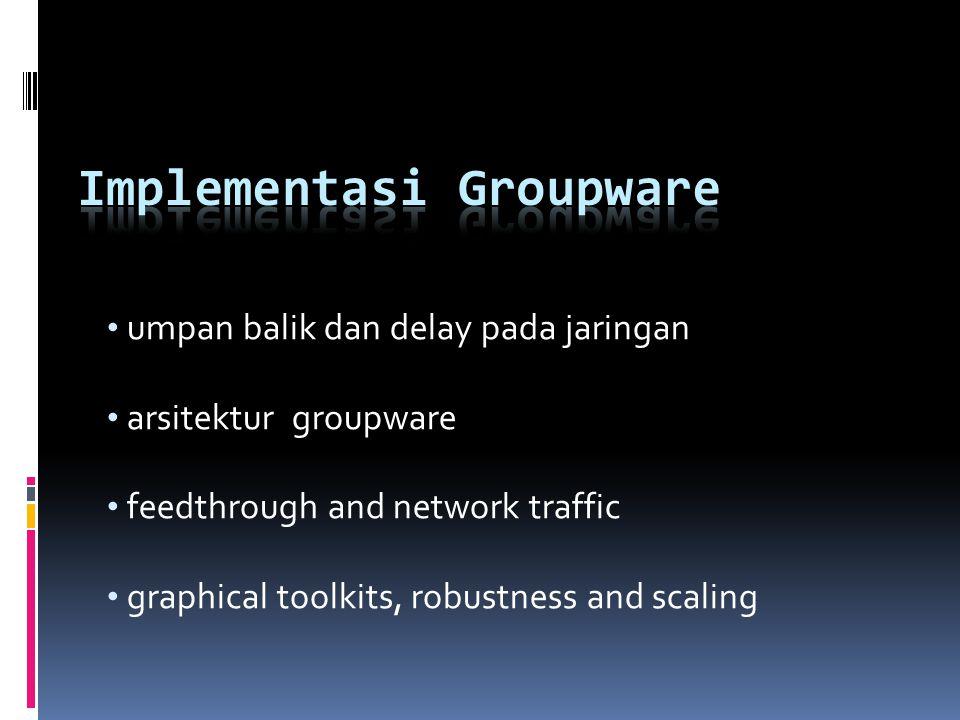 umpan balik dan delay pada jaringan arsitektur groupware feedthrough and network traffic graphical toolkits, robustness and scaling