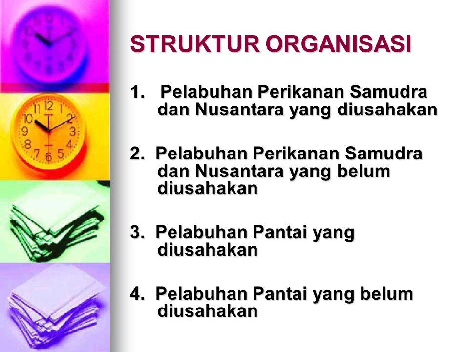 STRUKTUR ORGANISASI 1.Pelabuhan Perikanan Samudra dan Nusantara yang diusahakan 2.
