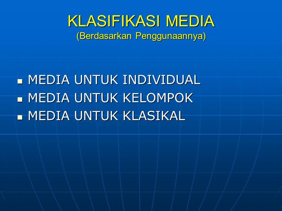 MEDIA PEMEBELAJARAN MEDIA SEDERHANA – MEDIA RUMIT MEDIA SEDERHANA – MEDIA RUMIT MEDIA ELEKTRIK – NON ELEKTRIK MEDIA ELEKTRIK – NON ELEKTRIK