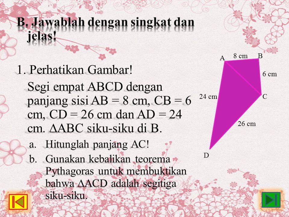 A 24 cm 26 cm 6 cm 8 cm D C B