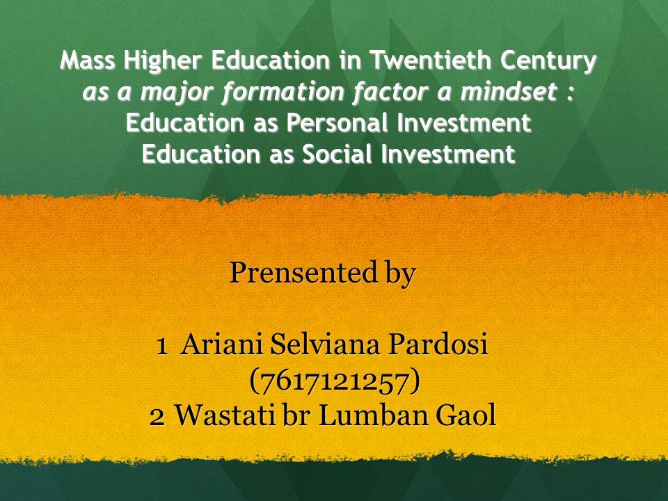 NILAI EKONOMI PENDIDIKAN MENURUT ELCHANAN COHN Pendekatan HUMAN CAPITAL hubungan linier antara invesment of education dengan higher productivity dan higher earning.