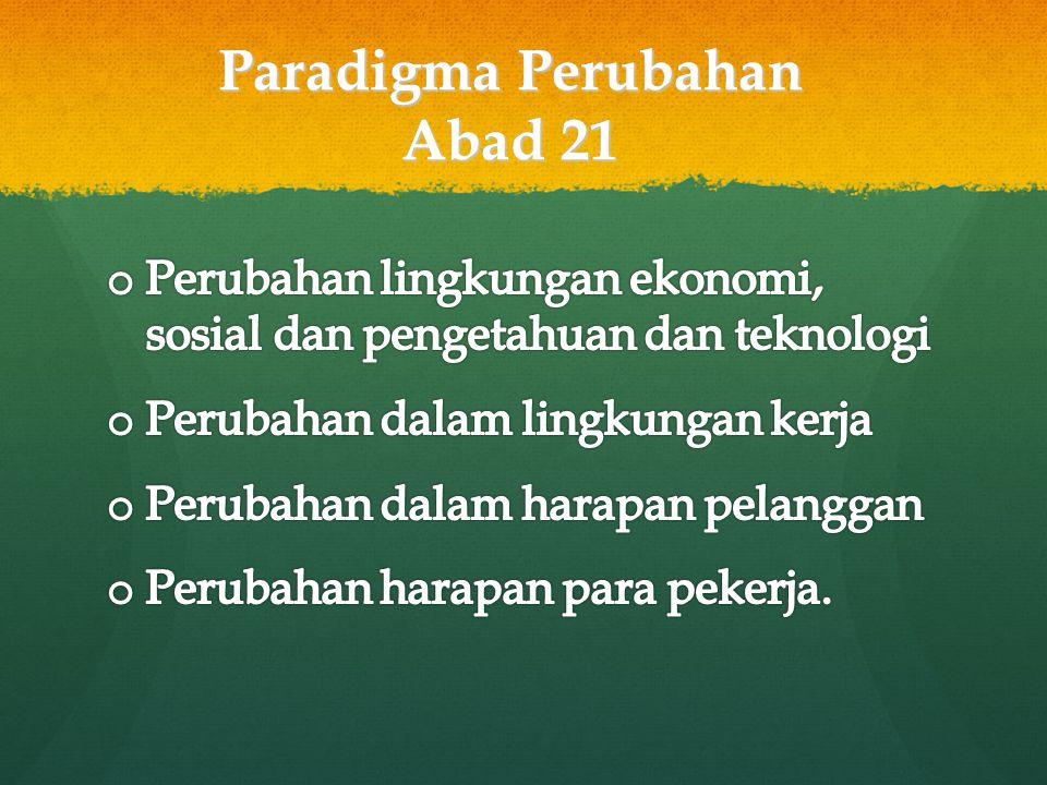 Paradigma Perubahan Abad 21